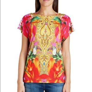 {Ted Baker} Tropical Toucan/Parrot Print Tee